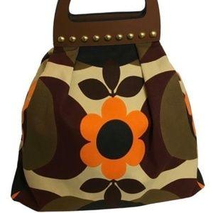 MIU MIU Prada Women's Canapa Flowers Shopping Bag